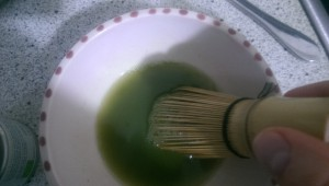Matcha Tee zubereiten sechster Schritt