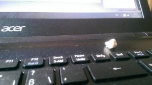 Kaugimmi auf der Tastatur