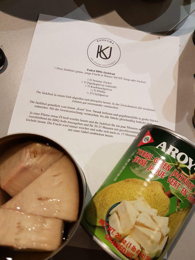 Vegane Kochschule Kurkuma im Test Jackfruit für Pulled Pork Barbecue