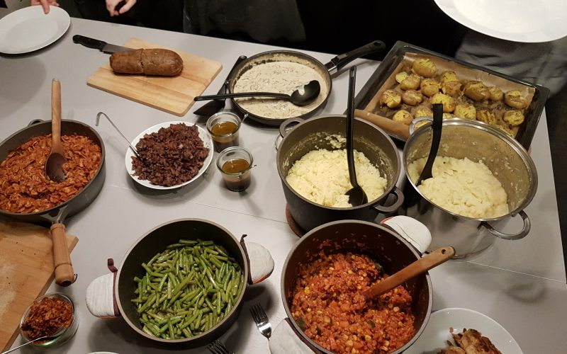 vegetarisches buffet vegane Kochschule Kurkuma hamburg im test