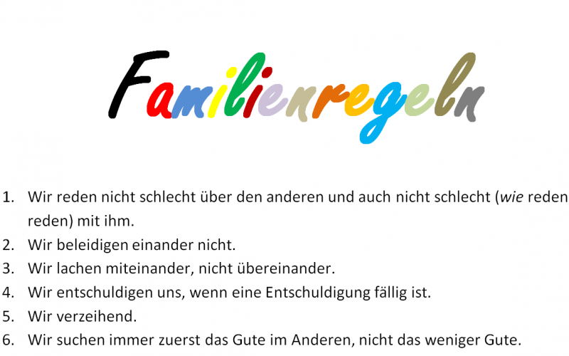 Familienregeln_Liste einer #motherof4